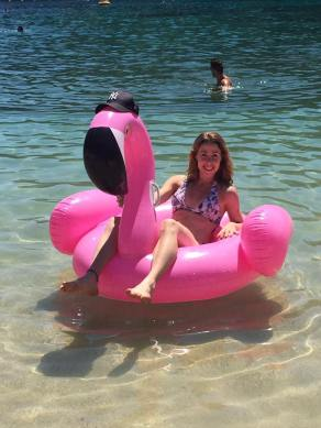 Myself and Frank the Pink Flamingo