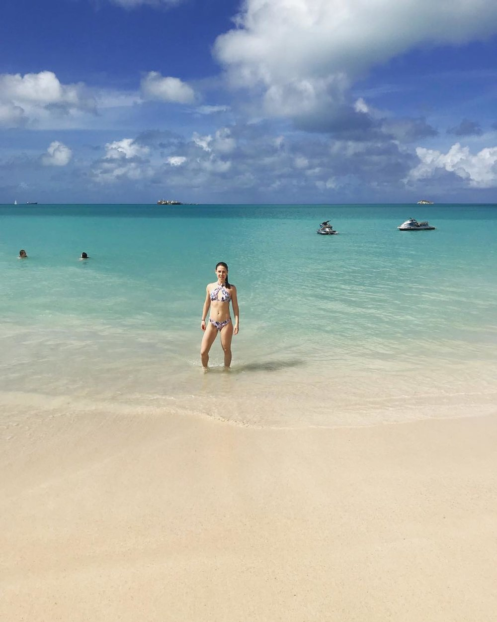 My  first port day  spent on a remote beach in  Antigua .